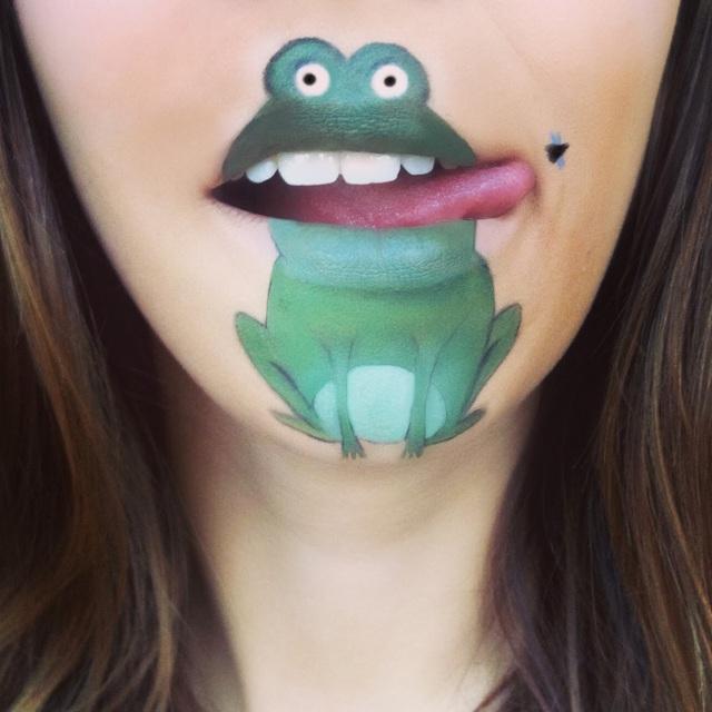 maquillage-bouche-grenouille