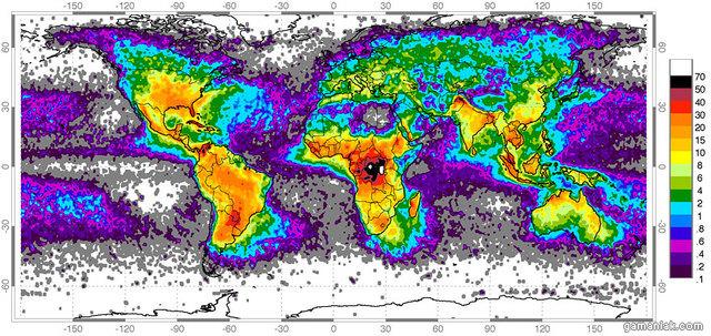 carte-monde-nombre-eclairs-par-annee