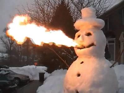 bonhomme-neige-crache-feu