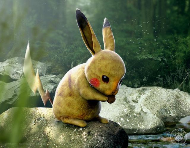 pokemons-realistes-joshua-dunlop-pikachu