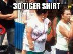 tigre-3d-sur-tshirt