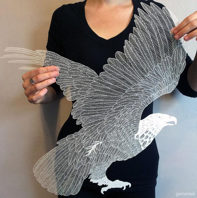 aigle-papier-decoupe