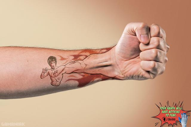 tatouage-bruce-lee-poing