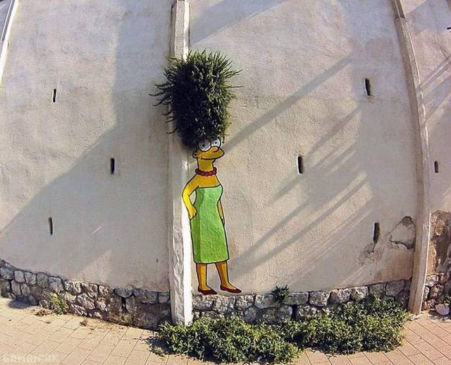 plante-cheveux-marge-simpson