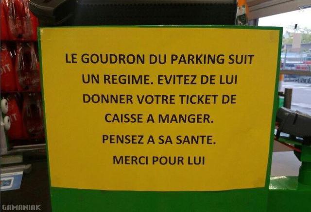 goudron-parking-regime