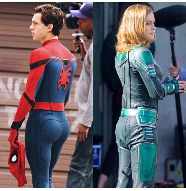 spiderman-fesses-captain-marvel
