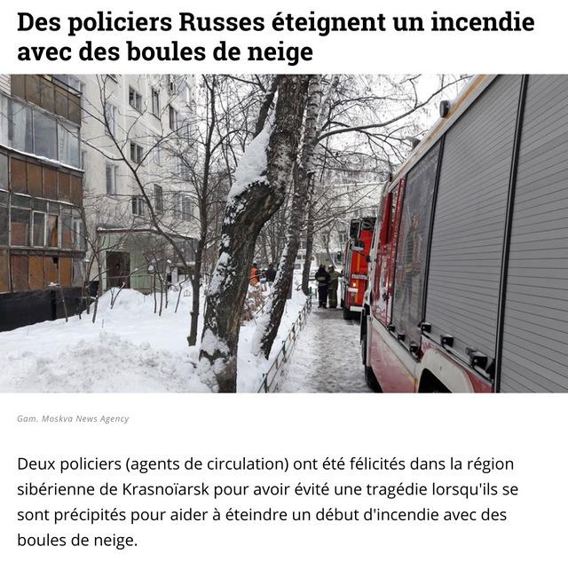 policiers-russes-eteigner-incendie-boules-neige