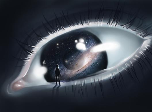 oeil-homme-galaxie
