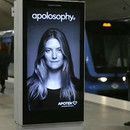 miniature pour Un panneau publicitaire réactif dans le métro