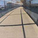 Collision avec une voiture sur un pont réservé aux piétons
