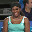 miniature pour Serena Williams demande un café pendant son match de tennis