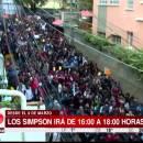 miniature pour Manifestation pour les Simpson à la télé en Bolivie