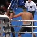 miniature pour Un boxeur demande à l'arbitre d'arrêter le round