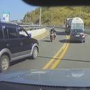 miniature pour Accident violent entre une moto et une voiture à contre-sens