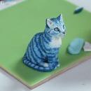 miniature pour Sculpture réaliste d'un chat en pâte à modeler