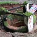 miniature pour Un puits disparait dans une doline