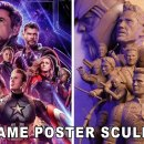 sculpture-personnages-poster-avengers-endgame