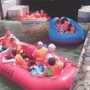 Embouteillage pour faire du rafting en Chine