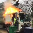 camion-poubelle-feu-fuite-hydraulique