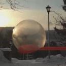 Une bulle de savon qui gèle