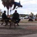 sauter-dessus-policier
