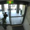 miniature pour Un voleur à l'arraché se cogne contre une vitre