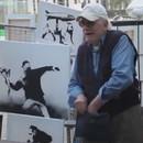 miniature pour Banksy vend ses tableaux à 60$ dans la rue